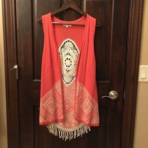 Umgee knit cardigan vest